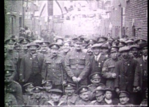 Chapel Street 1919 Victory Parade.  Image courtesy of the  North West Film Archive Manchester Metropolitan University.