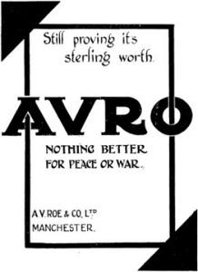 AVRO - Nothing Better advert. www.aviationancestry.com.