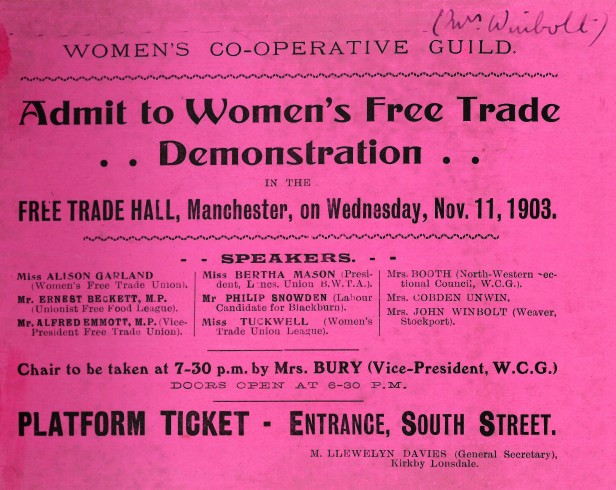 Free trade demonstration ticket (2)